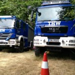 GKW und MzKW an der Einsatzstelle Homburger Bergrennen