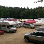 Blick über das Fahrerlager des Homburger Bergrennen