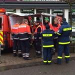 THW und Feuerwehr bei Evakierung Homburg nach Weltkriegsbombenfund