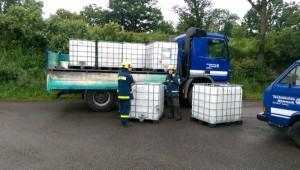 1000 Liter IBC Tanks zum umfüllen der Milch