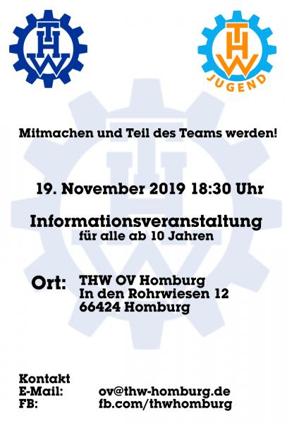 Mitmachen unt Teil des Teams werden. 19.November 2019 18:30 Uhr